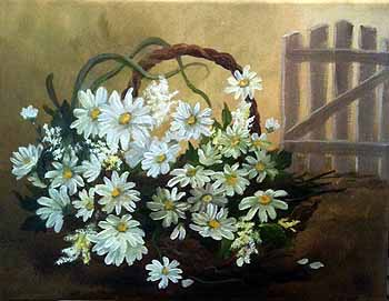 Basket of Daisies II