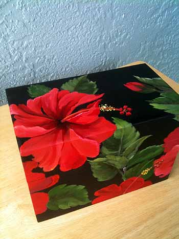 Hibiscus on Recipe Box